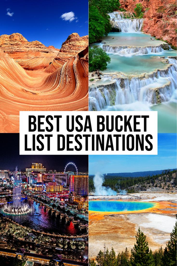 Usa bucket List Destinations