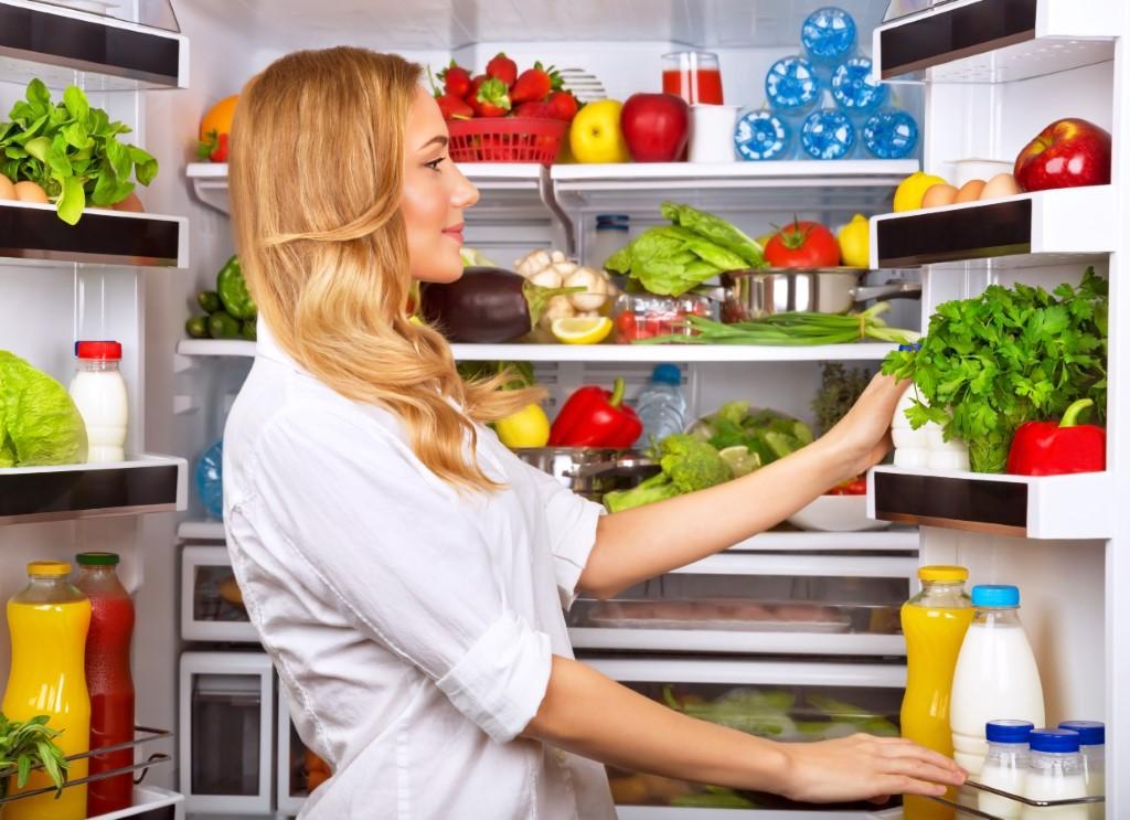 fridge of healthy food